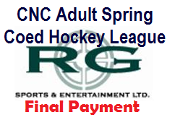 2017 CNC Adult COED Spring Hockey League Final Payment